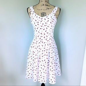 Lauren Conrad Minnie Mouse Fit n Flare Dress White